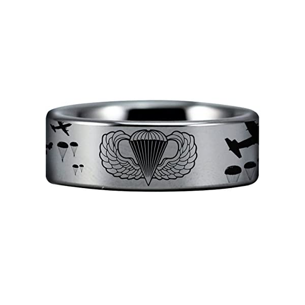 Friends-of-Irony-Silver-Tungsten-Paratrooper-Ring-8mm-Wedding-Band-And-Anniversary-Ring-Designed-For-Maximum-Comfort-Fit-For-Men-And-Women-Use