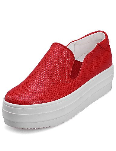 Zapatos us5 Negro white 5 Punta mujer Semicuero uk3 Vestido 5 5 Oficina de uk3 Blanco us5 red Mocasines eu36 Plataforma us4 Trabajo cn33 eu36 Rojo y eu34 uk2 2 ZQ cn35 Redonda 5 5 red 5 4 cn35 a7pwdnqac
