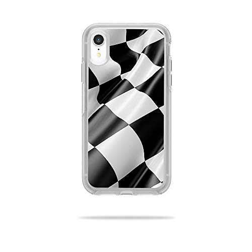 MightySkins Skin Compatible with OtterBox Symmetry iPhone XR Case - Race Flag | Protective, Durable, and Unique Vinyl Decal wrap Cover | Easy to Apply, Remove, and Change Styles | Made in The USA