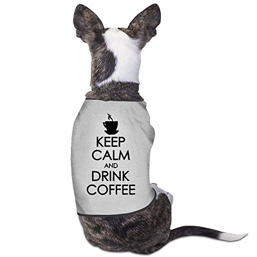 Theming Keep Calm And Drink Coffee Dog Vest - Virginia Halloween Costume