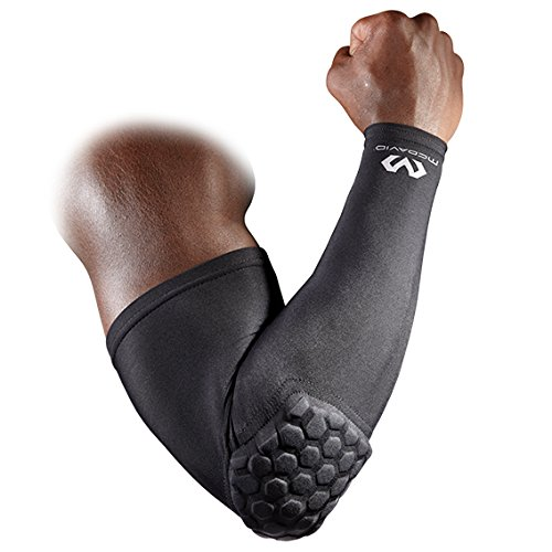 Mcdavid 6500 Hex Padded Arm Sleeve, Compression Arm Sleeve w/ Elbow Pad for Football, Volleyball,...