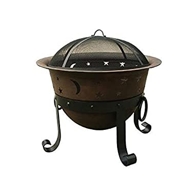 Catalina Creations 29  Heavy Duty Cast Iron Fire Pit with Cover and Accessories