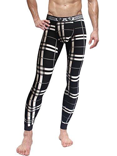 Cadmus Men's Thermal Compression Pants,9509 Black,US Small,Asia L
