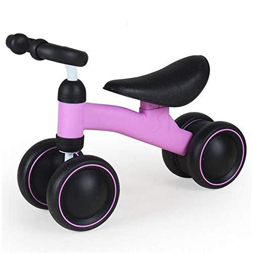 キッズ 自転車 ベビーバランシングカー 子供用 バランス ベビーカー 歩行器 ペダルスクーター B07PZ78RHX  pinkA 19.3inch