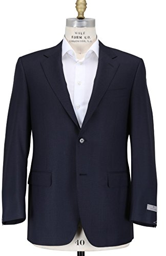 canali-classic-black-solid-two-button-flat-front-new-40-r-mens-suit-set