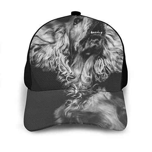English Cocker Spaniel Dog Classic Baseball Cap Men Women Dad Hat Twill Adjustable Size Black 5