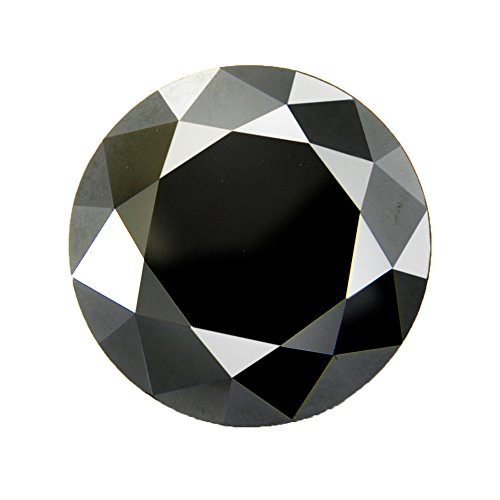 Skyjewels Certified 2.35 Ct Loose Solitaire Black Diamond RBC Loose Earth mined