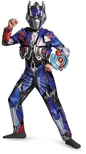 Disguise Hasbro Transformers Age of Extinction Movie Optimus Prime Deluxe Boys Costume, Small/4-6 (Optimus Prime Movie)