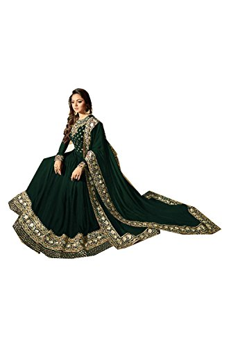 Salwar Etnica Traditonal Kameez Partywear Indiane Progettista Donne Facioun Da Verde 47qX00