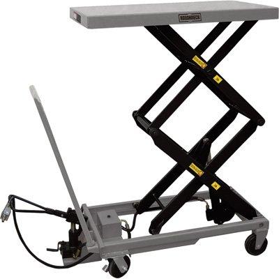 Roughneck Air/Hydraulic Lift Table Cart - 770lb. Capacity