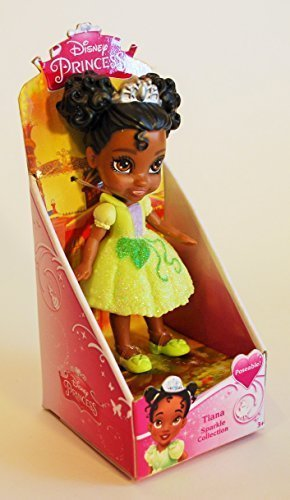 My First Disney Princess Sparkle Collection Mini Toddler Doll Tiana (Jakks Pacific For Their Disney Princess Toddler Dolls)
