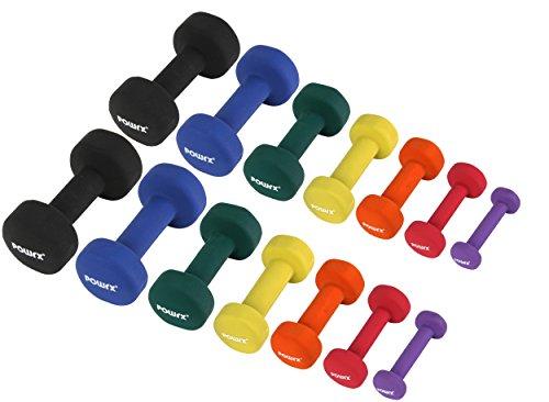 Neopren Hanteln Gewichte für Gymnastik, Kurzhanteln 0,5 kg, 1 kg, 1,5 kg, 2 kg, 3 kg, 4 kg, 5 kg, (2 x 2 kg)