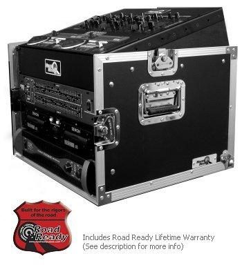 Road Ready RRM6U 10U Slant Mixer Rack/6U Vertical Rack System