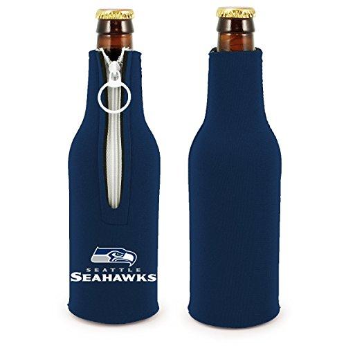 (NFL Football 2014 Team Color Logo Bottle Suit Holder Cooler 2-Pack (Seattle Seahawks - Blue))