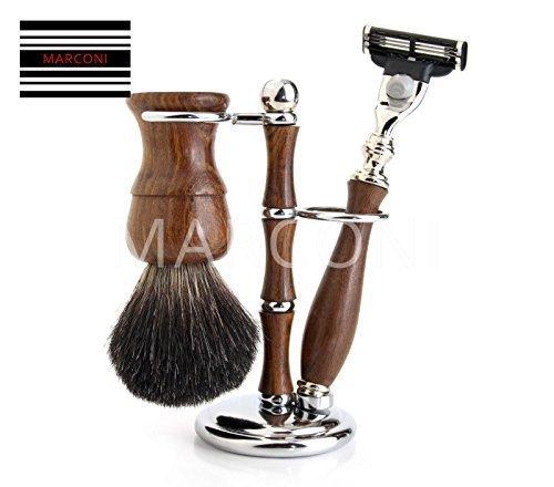 wooden vintage classic luxury shaving sets Badger hair shaving Brush Mach3 - Set Classic Shaving