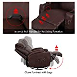 Esright Massage Recliner Chair Heated PU Leather