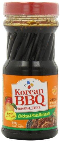 CJ Chicken & Pork Marinade Korean BBQ Sauce, 29.63 Ounce Bot