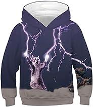 FEOYA Teen Boys Girls Galaxy Hoodies 3D Print Graphic Sweatshirts
