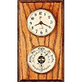 Wall Clock with Barometer and Thermometer For Sale