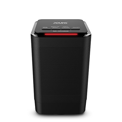 Portable Space Heater, DOUHE Electric Ceramic Heater 950W/450W Oscillating Fan Heater with Overheat and Tip-over Protection For Home and Office Use
