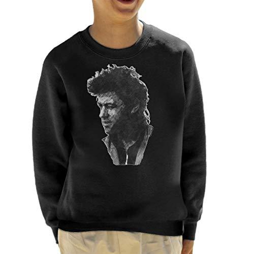 TV Times Pop Singer Bob Geldof 1986 Kid's Sweatshirt Black