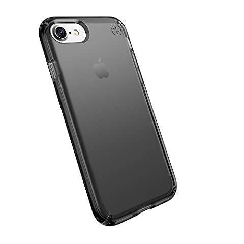 Speck Products Presidio Clear Cell Phone Case for iPhone 7, iPhone 6/6S - Onyx Clear/Black Matte (Iphone 6 Speck Clear Case)