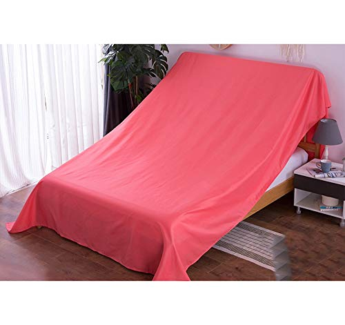 Fhz Solid Color Furniture Dust Cloth, Sofa Dust Cloth Cover Ash Cloth Bed Dust Cover Dust Cloth Large Cloth Cloth Gray Cloth Household (Color : Wine Red, Size : 300 * 350cm) hty