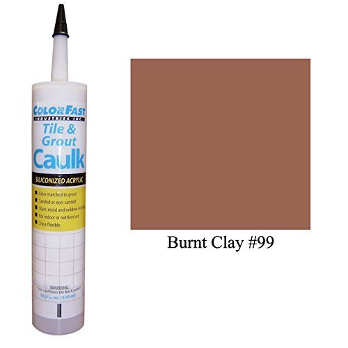 (Color Fast Caulk Matched to Custom Building Products (Burnt Clay Sanded))