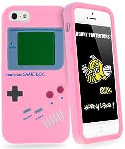 Horny Protectors iP50004 Retro - Carcasa con diseño de Gameboy para iPhone 5, color rosa