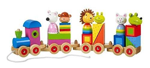 Orange Tree Frog - Orange Tree Toys Wooden Animal Puzzle Train
