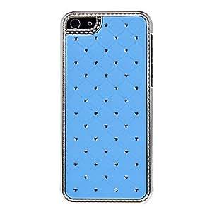 HOR Patrón de rejilla con la caja dura del diamante para el iPhone 5C (colores surtidos) , Púrpula