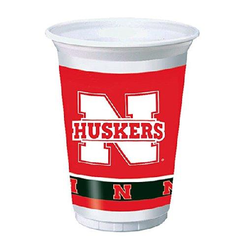 Creative Converting 379853 20 oz Printed Plastic Cups Univ of Nebraska 96 Counts
