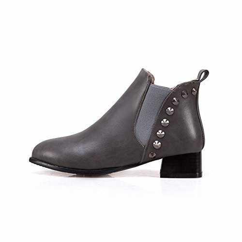 Mee Shoes Damen Niedrig warm gefüttert ankle Boots Grau