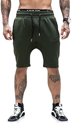(イーユー)メンズ スウェットハーフパンツ トレーニングウェア ジム アクティイブ スポーツショートパンツ ミリタリーグリーン 2XL