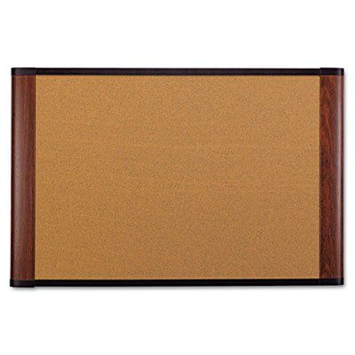 Cork Bulletin Board, 72 x 48, Mahogany Frame, Sold as 1 Each by 3M