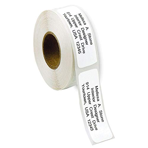 (Gloss White Rolled Address Labels without Dispenser by Colorful Images)
