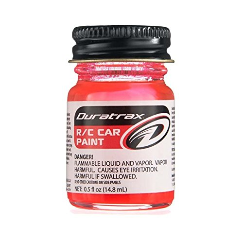 Leisure Vac (Duratrax Polycarbonate Radio Control Vehicle Body Paint, 0.5 Fluid Ounces, Fluorescent Red)