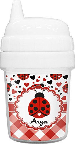 Ladybugs & Gingham Baby Sippy Cup - Ne Always Why