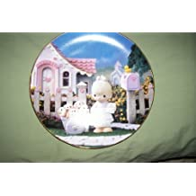 Precious Moments Plate - God Loveth A Cheerful Giver - 1993 by The Enesco Precious Moments Classics Plate Collection