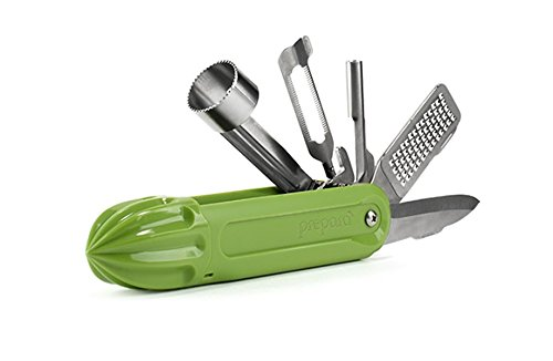 Prepara Fruit Multitool, Peeler, Zester, Apple Corer, Strawberry Huller - Cherry Pitter, Citrus Reamer, Kitchen Tools All in One