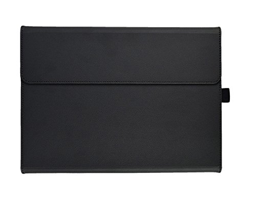 Microsoft Surface 3 Case, Compatible Surface 3 Type Cover, Valkit Folio PU Leather Stand Cases and Covers Bag Skin With Stylus Pen Holder Compatible with Surface 3 10.8 inch Original Keyboard, Black