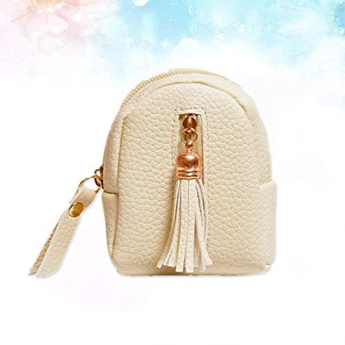 USB con per cerniera Portachiavi cavo Pocket Wallet beige Portafoglio Keys Save Healifty Tassel yAPcEHF