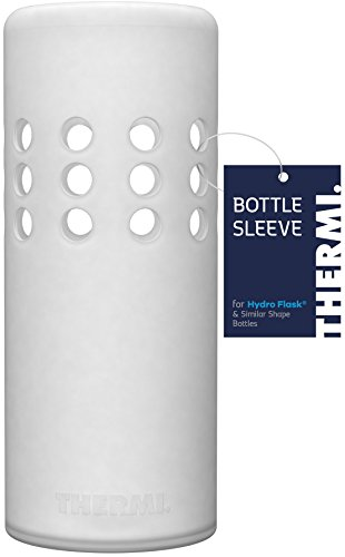 Thermi Protective Silicone Sleeve for Hydro Flask Water Bottles (Translucent White, ()