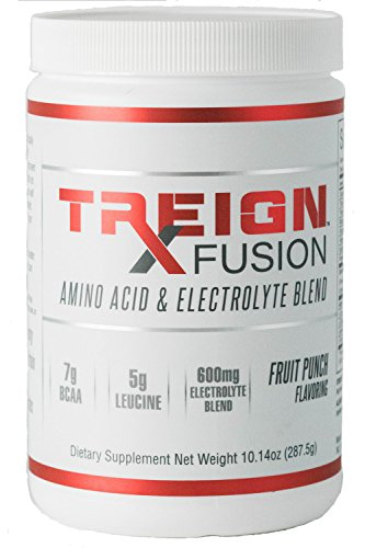- TREIGN Fusion Amino Acid & Electrolyte Blend for Men & Women - 7 BCAA Grams Power Peak Performance, Caffeine Free Energy Blend, Hydrate Your Body and Increase Blood Flow to Working Muscles