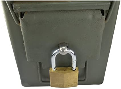 Amazon Com Ammo Box Can Lock Hardware Kit 50 Cal Fat 50 30 Cal 20 Mm 40 Mm 10 Count Sports Outdoors