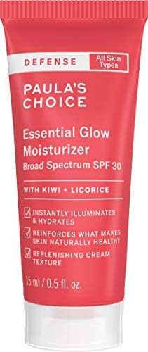 Paula's Choice-DEFENSE Essential Glow Moisturizer with SPF 30, Vitamin C & E, Niacinamide, Argan Oil & Resveratrol, Anti-Pollution, 0.5 Oz