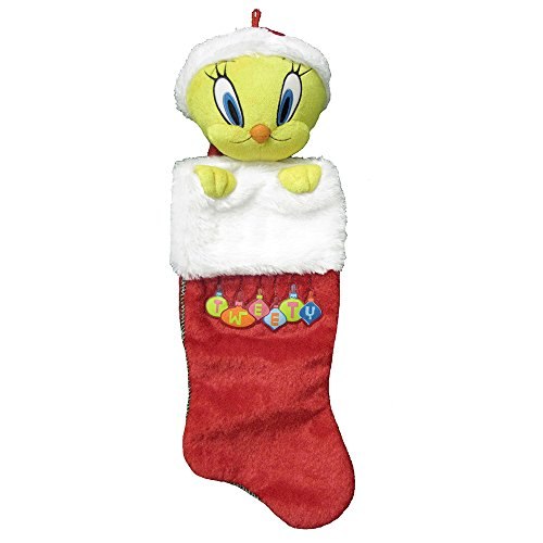 Kurt Adler Looney Tunes Tweety Bird Plush Head Stocking, 21-Inch