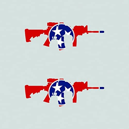 Two Pack Tennessee State Shape AR15 Sticker FA Graphix Vinyl Decal AR-15 M16 M-16 TN