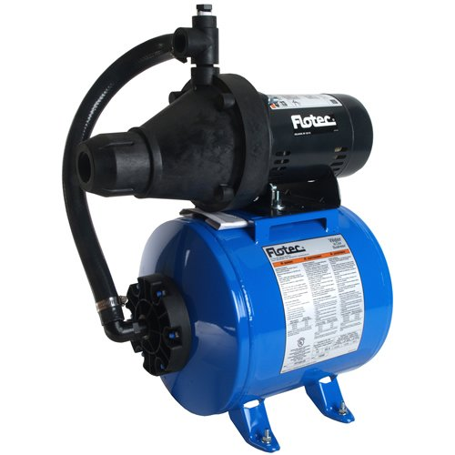 1/2 Hp Shallow Well Jet Pump On 15gal Hrzntl Tank by Flotec