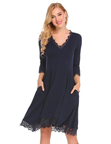 Ruffle Trim Shirt Dress - 2